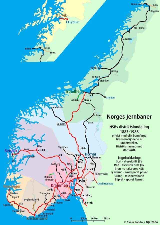 kart nordlandsbanen Togdatabasen kart nordlandsbanen